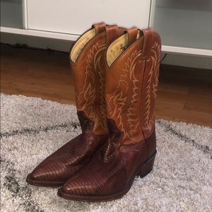 Tony Lama lizard skin boots